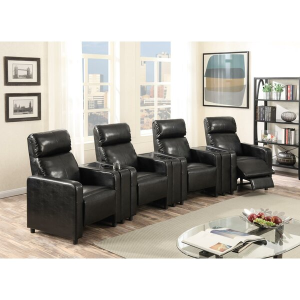 Ketter Push Back 4-Piece Home Theater Row Seating By Latitude Run