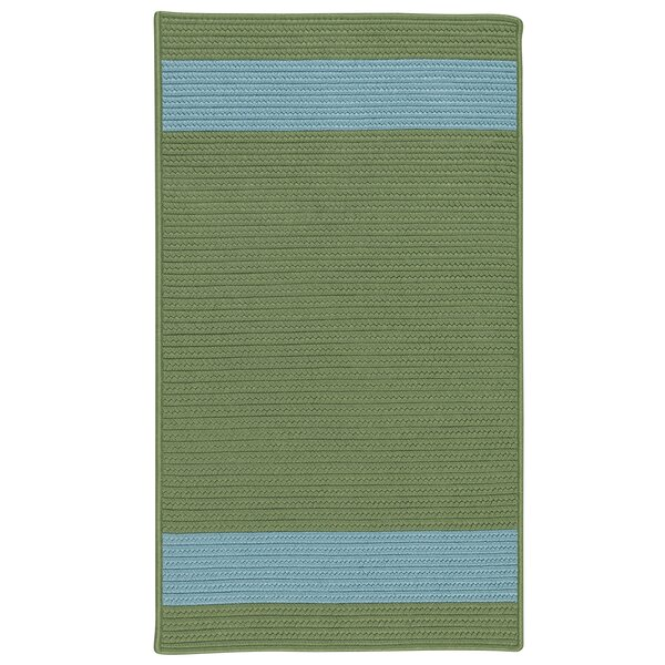Sumrall Hand-Braided Green/Blue Indoor/Outdoor Area Rug by Bay Isle Home