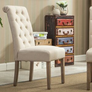 Sabanc Solid Wood Button Tufted Side Chair (Set of 2) Laurel Foundry Modern Farmhouse