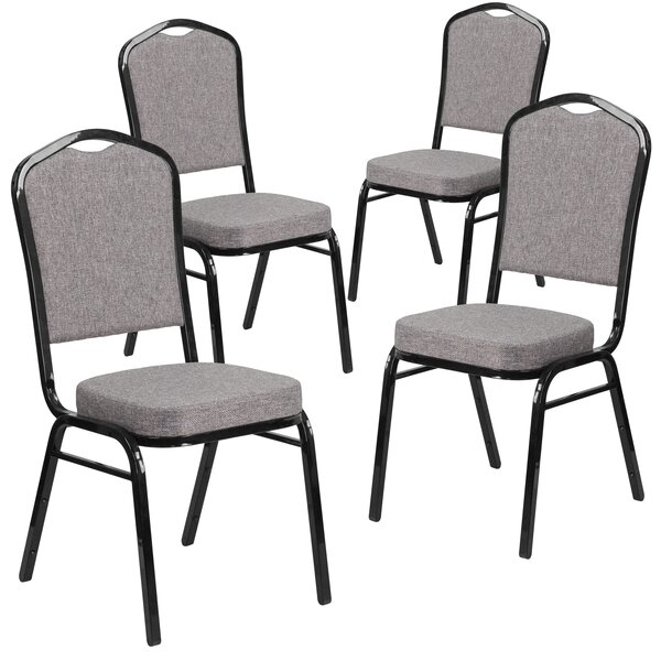 Laduke Crown Banquet Chair with Cushion (Set of 16) by Symple Stuff
