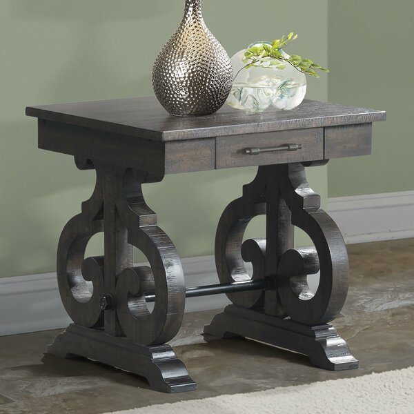 Hot Springs End Table by Three Posts