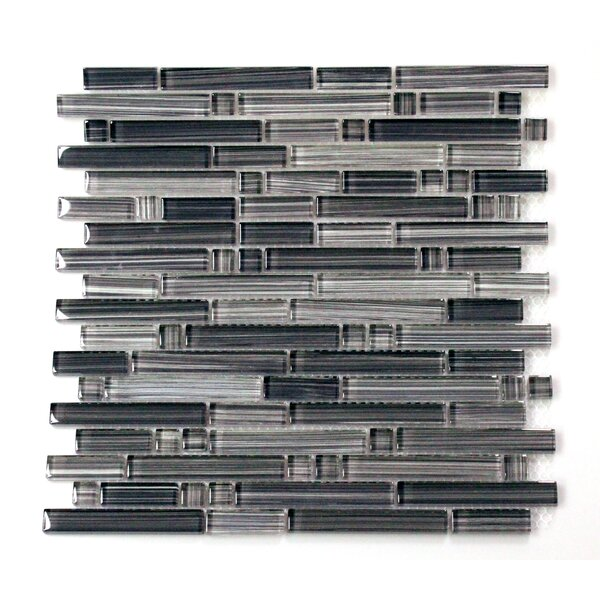 Verona 12 x 14 Glass Mosaic Tile in Gray by WS Tiles