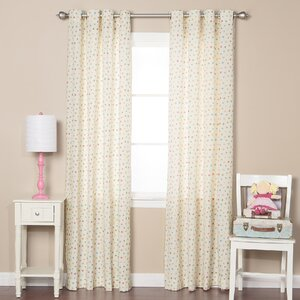 Multicolor Polka Dot Semi-Sheer Grommet Curtain Panels (Set of 2)