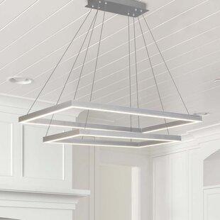 Comparison Donovan 2-Light  LED Geometric Chandelier By Wade Logan
