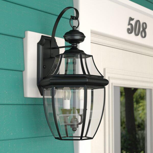 Mellen 2-Light Outdoor Wall Lantern by Three Posts