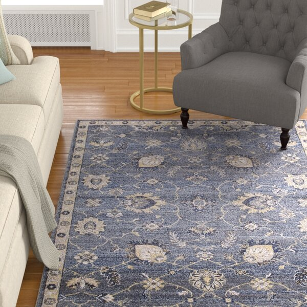 Reames Mahal Navy Area Rug by Charlton Home