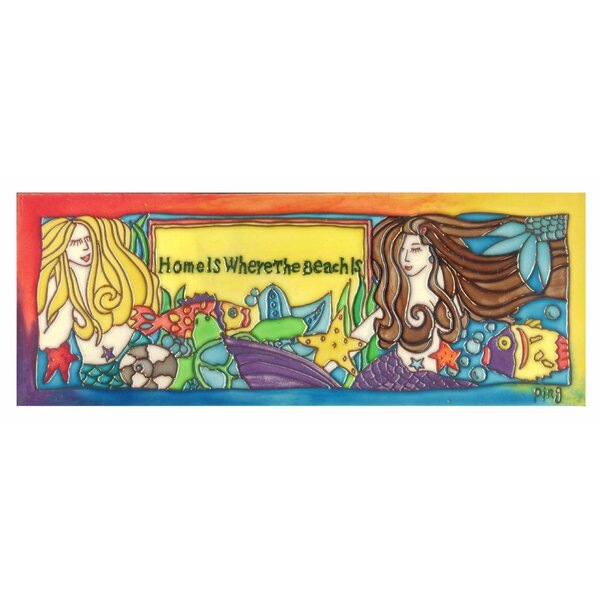 2 Mermaids Tile Wall Decor by Continental Art Center