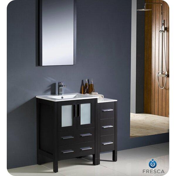 Torino 36 Single Bathroom Vanity Set with Mirror by FrescaTorino 36 Single Bathroom Vanity Set with Mirror by Fresca