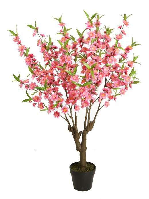 Northlight Decorative Artificial Peach Floral Blossom Tree in Pot ...