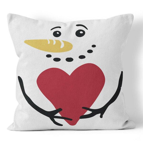 Snowman Throw Pillow by Ziya Blue