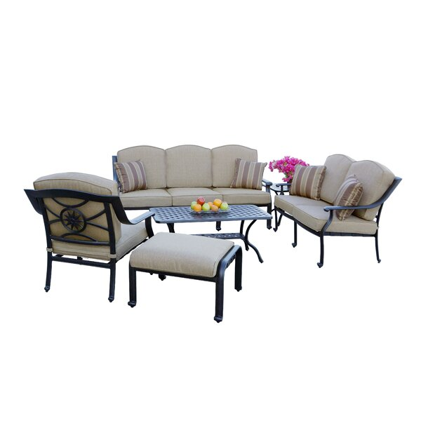 Capel 6 Piece Sofa Seating Group with Cushions by Darby Home Co