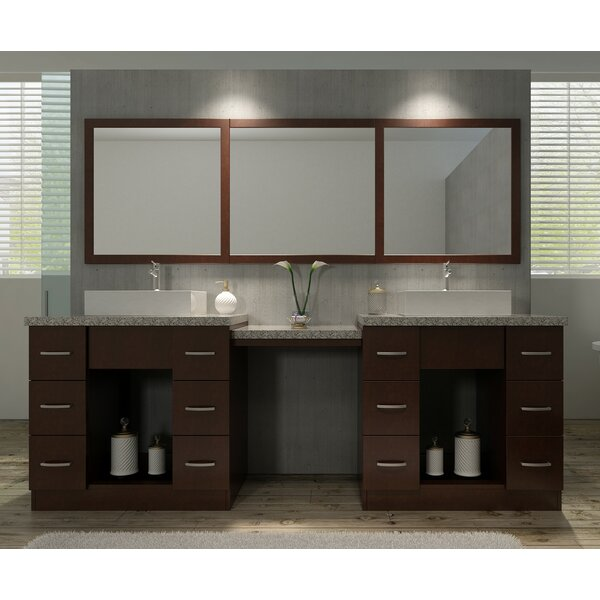 Roosevelt 97 Double Sink Vanity Set with Mirror and Makeup Table by Ariel Bath