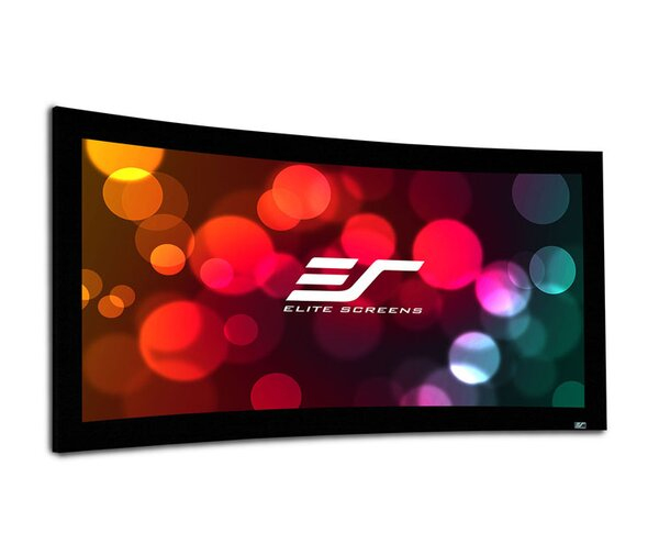 Lunette Series Matte White Fixed Frame Projection Screen by Elite Screens