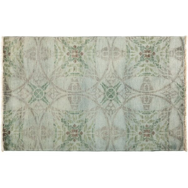 One-of-a-Kind Vibrance Hand-Knotted Green Area Rug by Darya Rugs