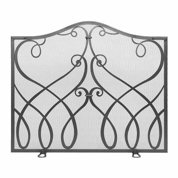 Zinaida Single Panel Iron Fireplace Screen By Fleur De Lis Living