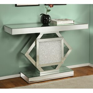 Blakeston Mirrored Console Table by Rosdorf Park