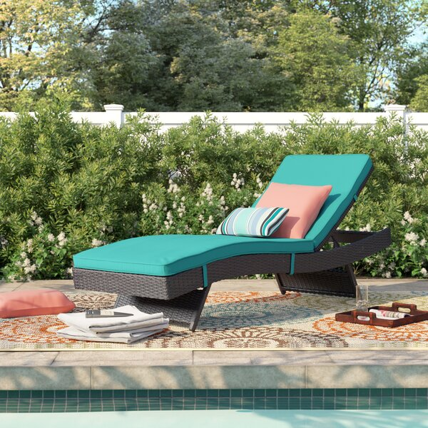 Brentwood Reclining Chaise Lounge with Cushion by Sol 72 Outdoor Sol 72 Outdoor