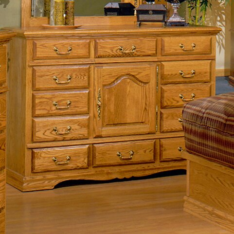 Country Heirloom 12 Drawer Combo Dresser by Bebe Furniture