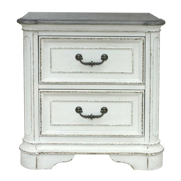 Ilsa 2 Drawers Nightstand by August Grove