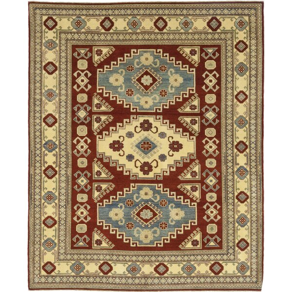 One-of-a-Kind Diaz Hand-Knotted Wool Red/Beige Indoor Area Rug by Isabelline
