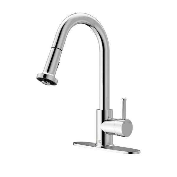 Harrison Pull Out Single Handle Kitchen Faucet by VIGO