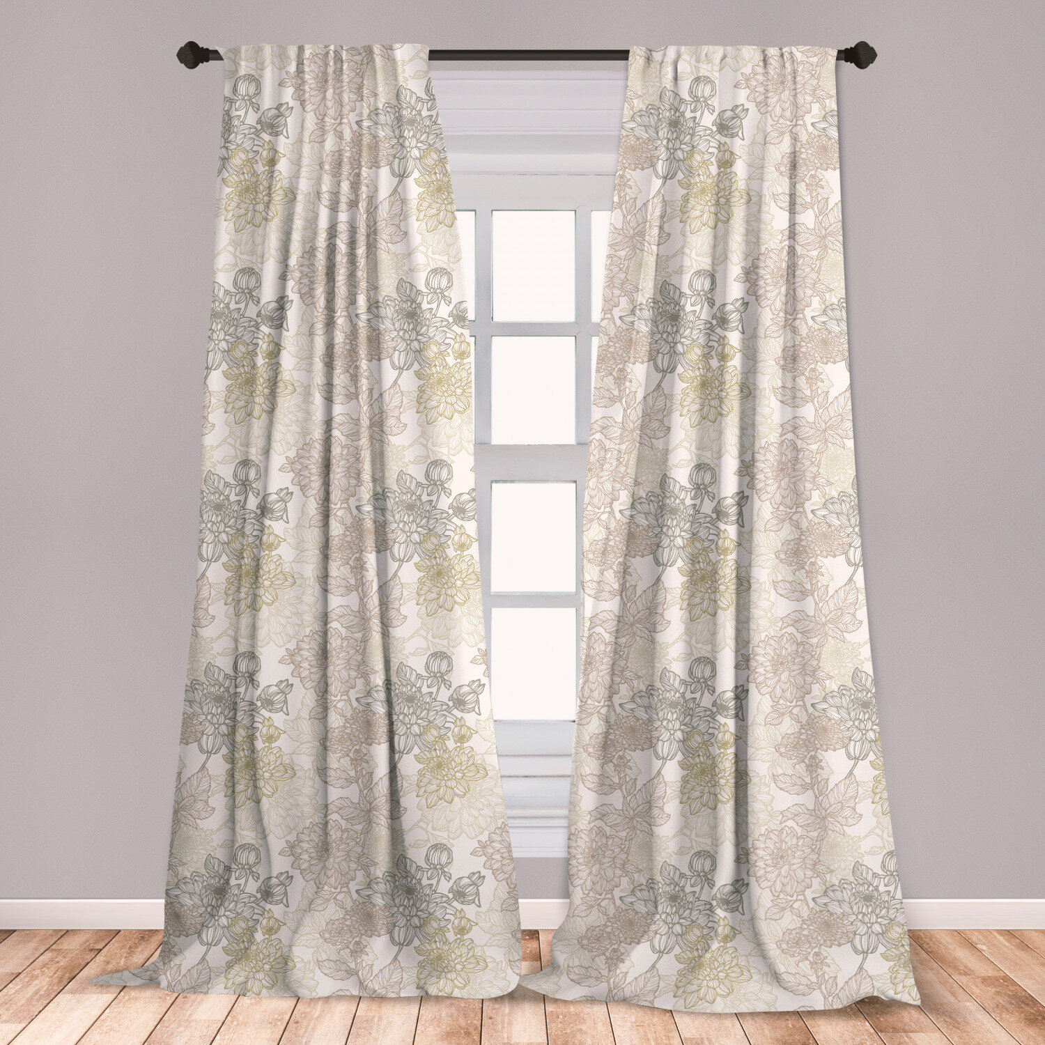 East Urban Home Ambesonne Vintage Curtains Pattern Of