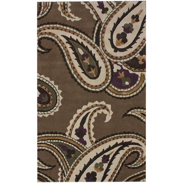 Modella Mono Hand-Tufted Brown/Tan Area Rug by nuLOOM