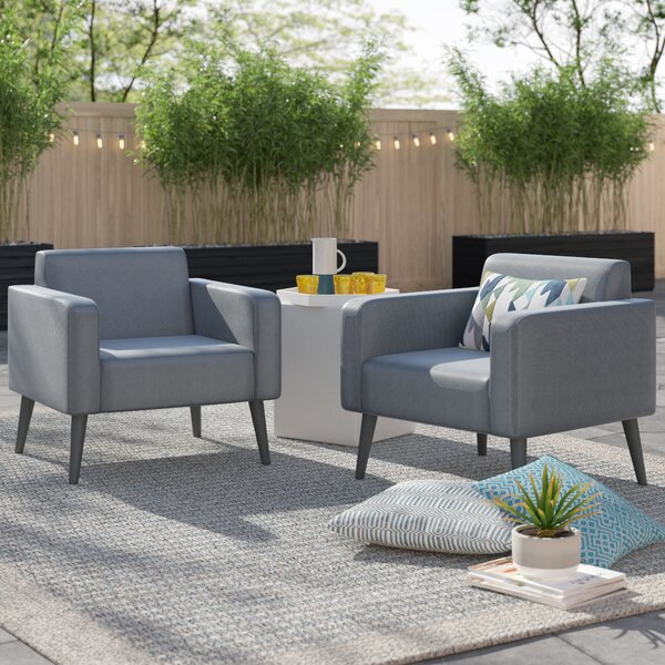 Woodbury Patio Chair With Cushion (Set Of 2) By Langley Street™