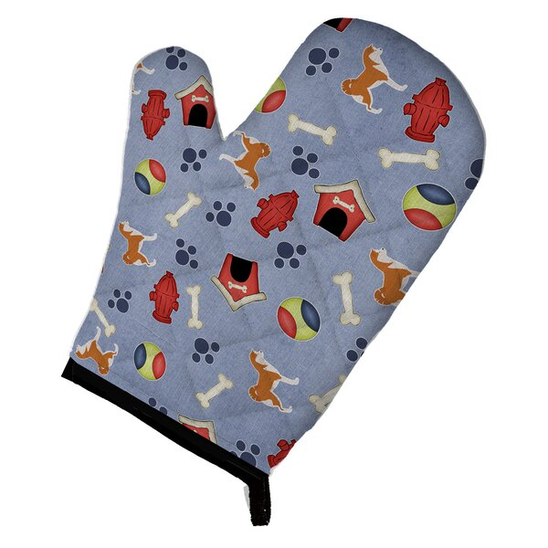 Akita Dog House Oven Mitt by East Urban Home