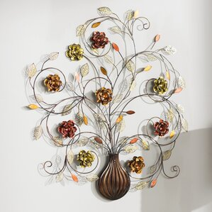 Flower Metal Wall Art metal wall art - wall décor | wayfair
