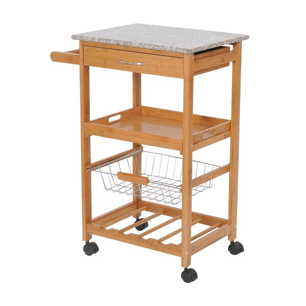 Kitchen Cart with Granite Top by HomCom