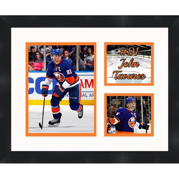 New York Islanders John Tavares 91 Photo Collage Framed Photographic Print by Frames By Mail