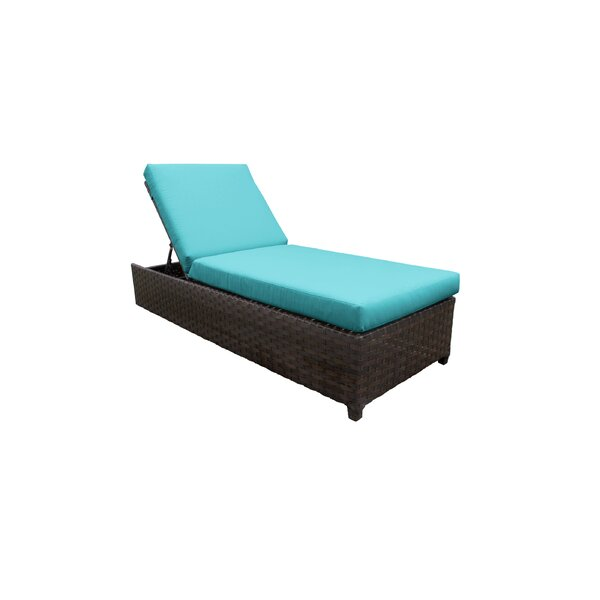 River Brook Patio Reclining Chaise Lounge with Cushion