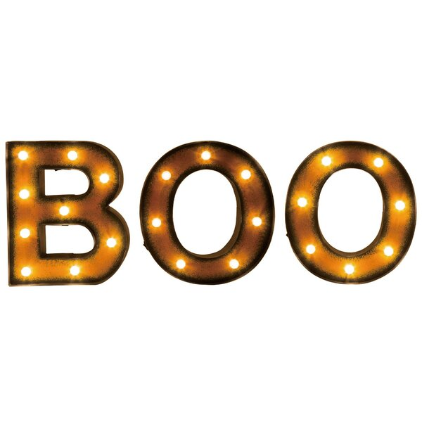 Marquee LED BOO by The Holiday AisleMarquee LED BOO by The Holiday Aisle