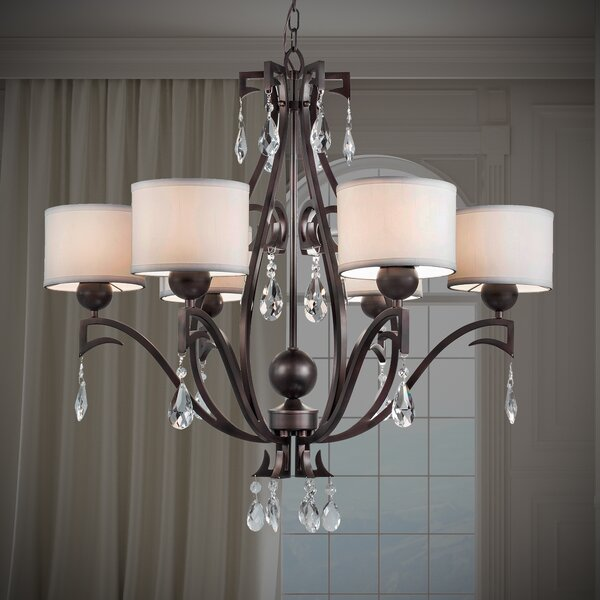 Boomberry 6-Light Shaded Classic / Traditional Chandelier by Rosdorf Park Rosdorf Park