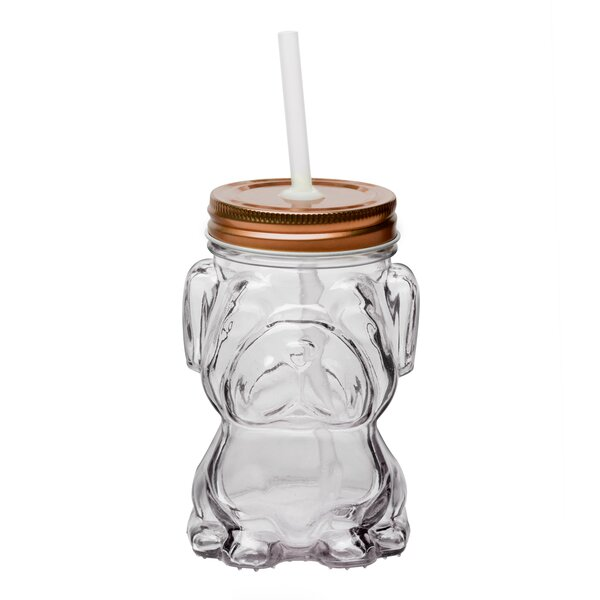 Hutchcraft Dog 14 oz. Glass Mason Jar (Set of 6) by Wrought Studio
