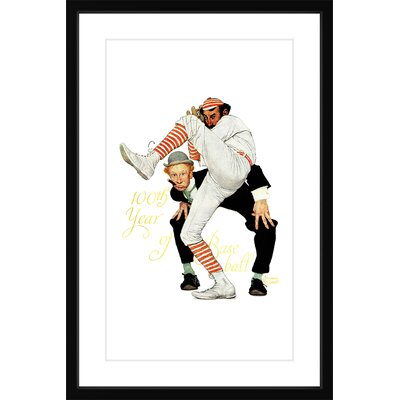 100Th Anniversary Of Baseball by Norman Rockwell Framed Painting Print Marmont Hill Size 30 H x 20 W x 15 D
