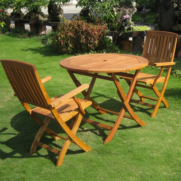 Sabbattus 3 Piece Patio Bistro Set by Breakwater Bay
