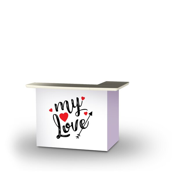Yerby Valentines My Love Home Bar by East Urban Home