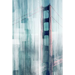'Golden Gate' by Parvez Taj Painting Print on Wrapped Canvas by Parvez Taj