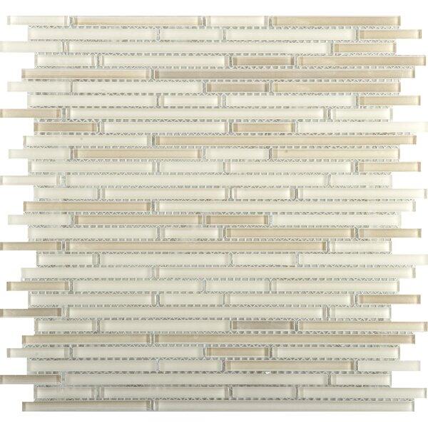 Infinity Random Sized Glass Mosaic Tile in Beige by Emser Tile