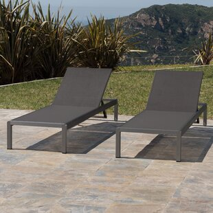 Crosstown Aluminum Mesh Chaise Lounge (Set Of 2)