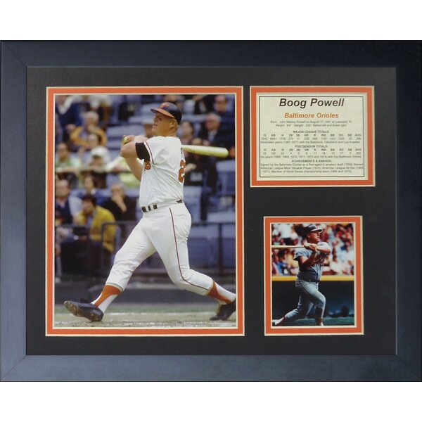 Boog Powell Framed Photographic Print by Legends Never Die