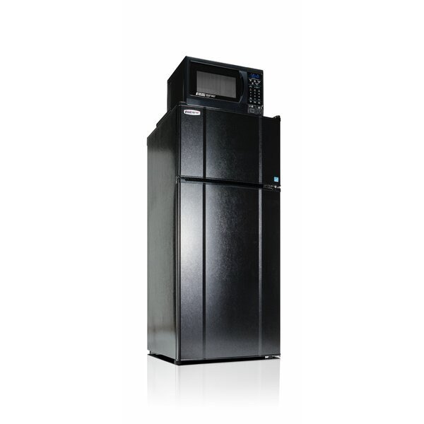 Apartment 10.3 cu. ft. Top Freezer Refigerator with Microwave by Microfridge