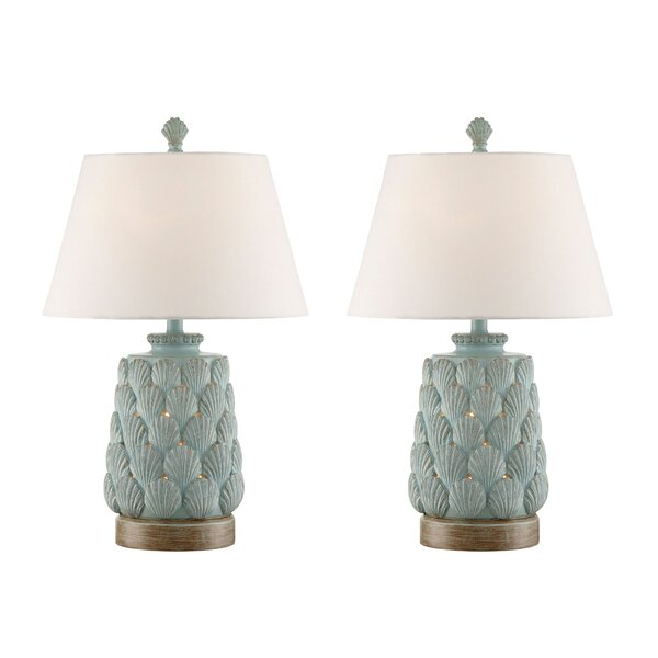 Jace Seashell 33 Table Lamp (Set of 2) by Highland Dunes