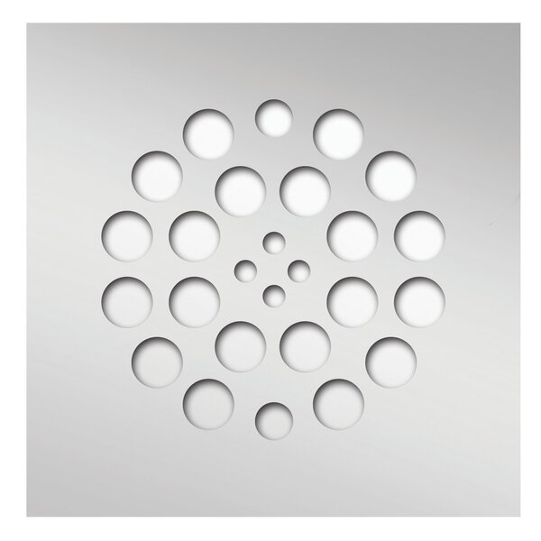 Square 4.25 Grid Shower Drain by Tile Redi