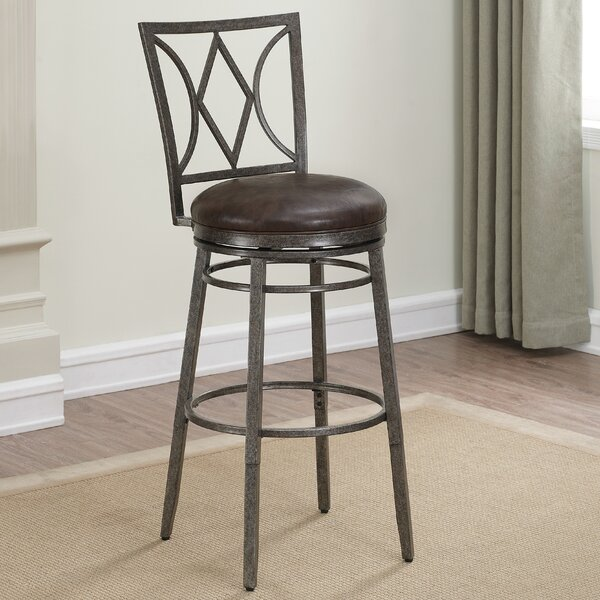 Dursley Adjustable Height Swivel Bar Stool by Loon Peak