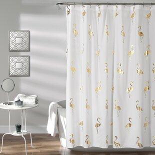 Savings Heineman Flamingo Shower Curtain ByMercer41