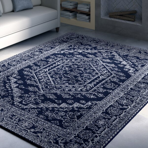 Connie Navy/Ivory Area Rug by Greyleigh