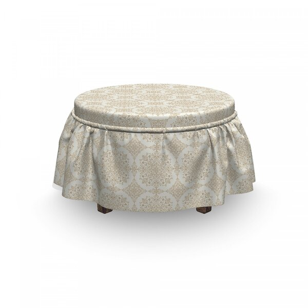 Foliage Curlicues Ottoman Slipcover (Set Of 2) By East Urban Home